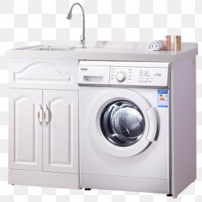 White Laundry Cabinets And Washing Machines - Washing Machine Cabinetry Galanz Furniture Home Appliance PNG