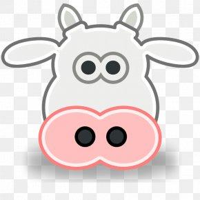 Cow Head - Jersey Cattle Cartoon Clip Art PNG