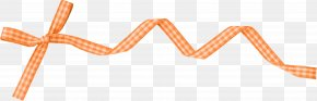 Orange Pattern Ribbon Bow - Orange Ribbon PNG