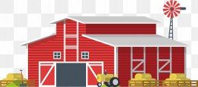 Red Country Cartoon Barn - Barn Cartoon Farm Granary PNG