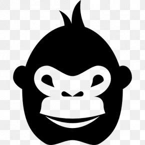 Black Gorilla - Gorilla Ape Monkey Clip Art PNG