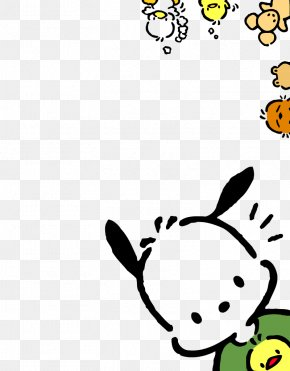 Puppy Chick Creative Decorative Border - Hello Kitty Sanrio Dog Kavaii Wallpaper PNG