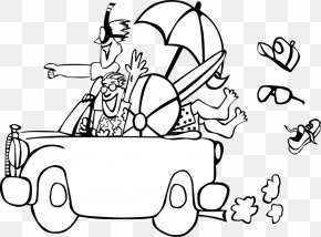 Cartoon Beach Scene - Road Trip Free Content Vacation Clip Art PNG