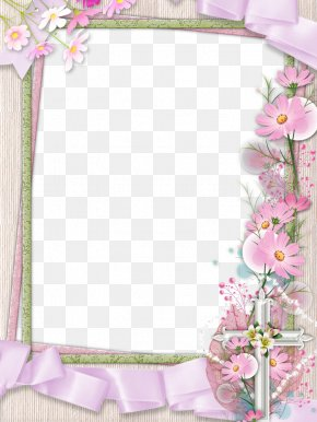 Pink Flower Frame Transparent Picture - Picture Frame Flower Clip Art PNG