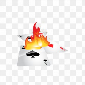 Vector Flames And Cards - T-shirt Flame Playing Card Burn Card PNG