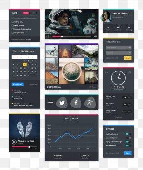Space Theme UI Interface - User Interface Design Flat Design PNG