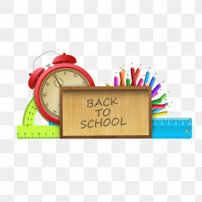 School Supplies Learning - Student First Day Of School Clip Art PNG