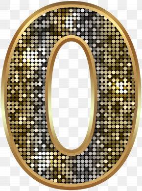 Number Zero Deco Gold Clip Art Image - Divination Rosa Tomentosa Clip Art PNG