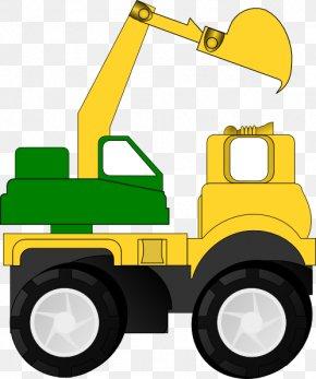 Construction Equipment Clipart - Car Truck Toy Clip Art PNG