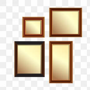 Vector Golden Frame Wall - Picture Frame PNG