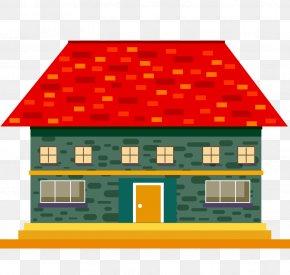 Cartoon Brick - Roof Tiles Brick Clip Art PNG