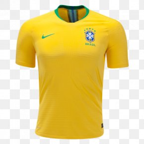 Nike - Brazil National Football Team 2018 World Cup Nike Jersey PNG