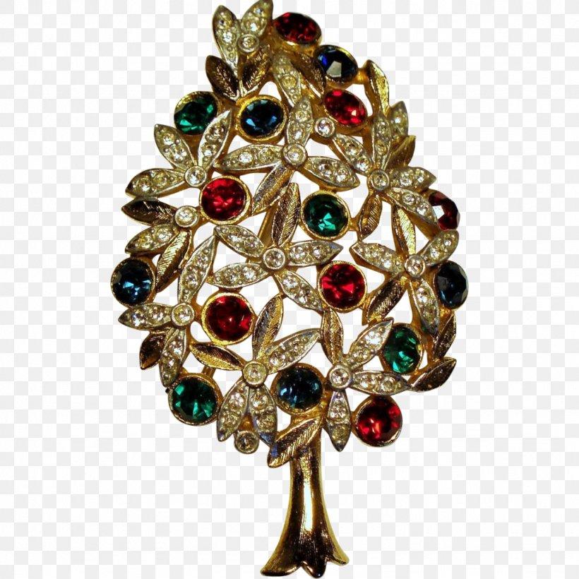 Christmas Tree Brooch Christmas Day Christmas Ornament Gemstone, PNG, 1024x1024px, Christmas Tree, Brooch, Christmas Day, Christmas Decoration, Christmas Ornament Download Free