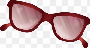 Red Sunglasses Vector - Goggles Sunglasses Red PNG