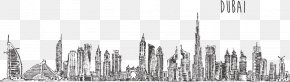 Vector Dubai Tower - Burj Khalifa Skyline Drawing Stock Photography PNG