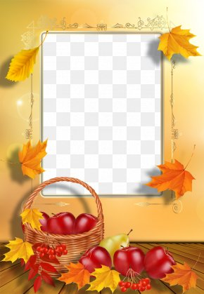 Autumn Leaves Frame - Picture Frame Autumn Photography PNG