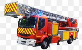 Firefighter - Fire Engine Firefighter Fire Department Service Départemental D'Incendie Et De Secours Autoladder PNG