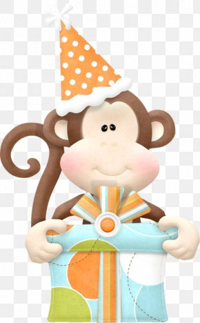 Naughty Monkey - Birthday Cake Greeting Card Wedding Invitation Brother PNG