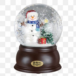 Christmas - Christmas Ornament Snow Globes Snowman Santa Claus PNG