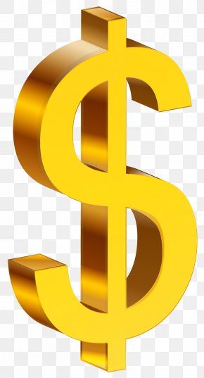 Transparent Gold Dollar Clipart - United States Dollar Dollar Sign Clip Art PNG