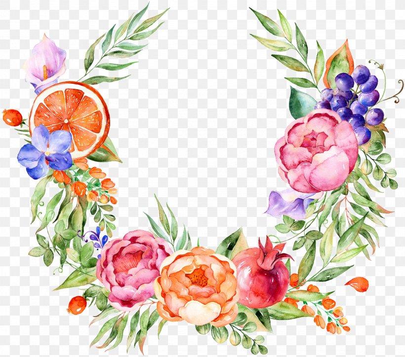 Floral Design Watercolor Painting Grape Flower, PNG, 2350x2076px, Watercolour Flowers, Art, Cut Flowers, Flora, Floral Design Download Free
