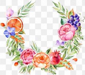 Watercolor Floral Decoration - Floral Design Watercolor Painting Grape Flower PNG
