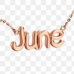 June Necklace - Necklace Letter Jewellery PNG