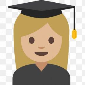 High School Clipart Graduation Ceremony - Emoji Clip Art Diploma Of Higher Education PNG