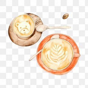 Coffee - Coffee Latte Cafe Watercolor Painting Illustration PNG