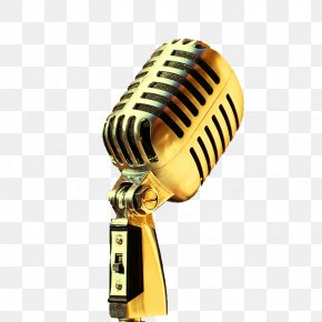 FIG Golden Microphone - Little White School Museum Microphone Royalty-free PNG
