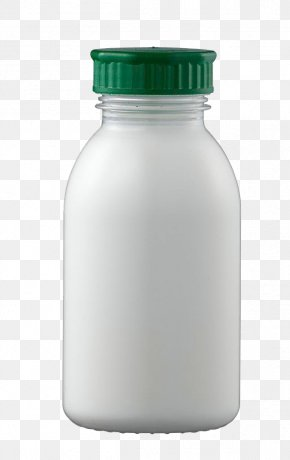 White Milk Bottle - Water Bottle Cow's Milk Plastic Bottle PNG