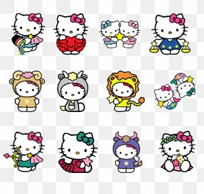 Kitty Cat 12 Constellations - Hello Kitty Constellation Icon PNG