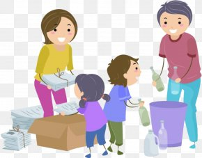 Parents And Children Pack - Waste Sorting Waste Management Waste Container Clip Art PNG