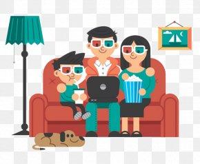Family Movie - Behance Flat Design Illustration PNG