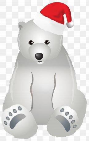 Christmas Polar Bear Transparent Clip Art Image - The Polar Bear Christmas Clip Art PNG