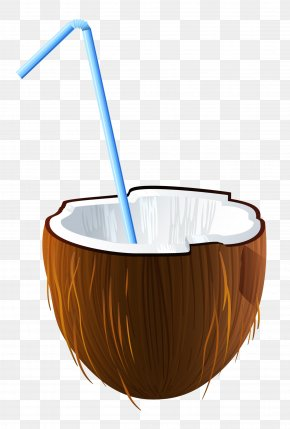 Summer Coconut Cocktail Clipart - Cocktail Coconut Water Clip Art PNG