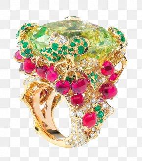 Flowers Gemstone Rings - Jewellery Ring Gemstone Costume Jewelry Christian Dior SE PNG