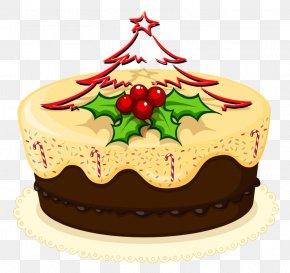 Christmas Cake - Christmas Cake Cupcake Clip Art PNG