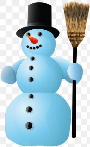 Snowman Hat - Snowman Christmas Illustration PNG