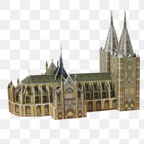 Cologne Cathedral - Cologne Cathedral Eiffel Tower Saint Basil's Cathedral Puzz 3D PNG