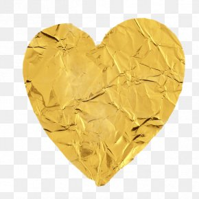 Gold Heart - Gold Love Heart Silver PNG