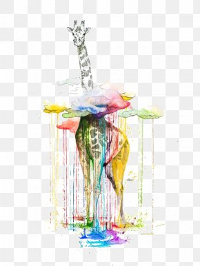 Giraffe - Watercolor Painting Giraffe Artist PNG