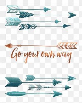 Cartoon Arrows - Paper Quotation Bumper Sticker Printing PNG