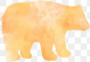 Watercolor Brush Polar Bear - Polar Bear Pen Watercolor Painting PNG