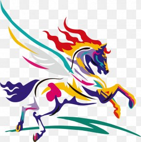 Painted Horse Vector Material - American Paint Horse Watercolor Painting Clip Art PNG
