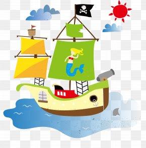Cartoon Ship - Cartoon Drawing Boat PNG