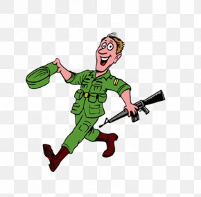 Creative Force,Military Material,Be A Soldier - Soldier Cartoon Military Clip Art PNG
