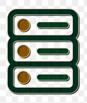 Rectangle Green - Big Data Icon Database Icon Network Icon PNG