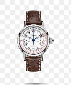 Longines Male Watch Brown Watch Watches - Chronograph Longines Automatic Watch Movement PNG