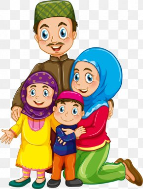 Mouslim Child - Muslim Islam Family Clip Art PNG